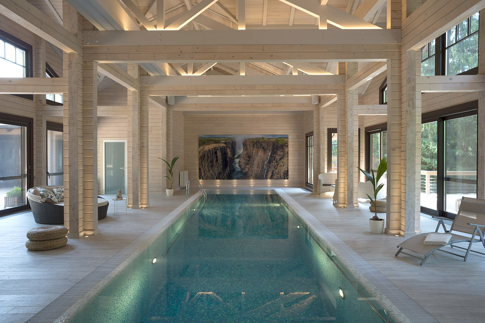 Дома из бруса с бассейном проекты фото